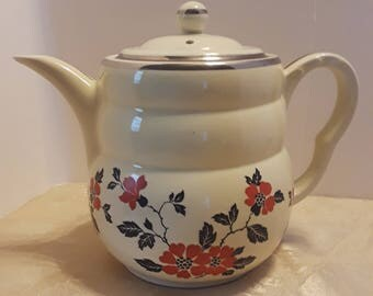 Hall Red Poppy Daniel Coffee Pot, Vintage