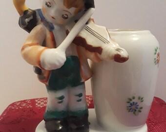 Fiddling Boy Holder, Made in Occupied Japan, Vintage