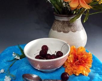 Handmade Small Ceramic Nice Cream Bowl