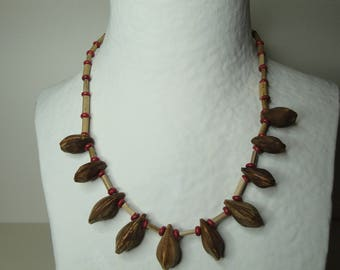 Necklace exotic seeds