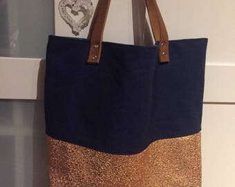 """The Emma"" sequin fabric tote bag"
