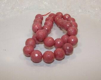 Rhodonite ball 12 mm faceted (Disco) stone-semi precious