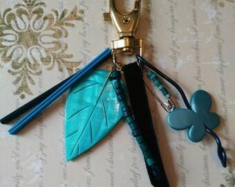 Keyring / bag dark blue