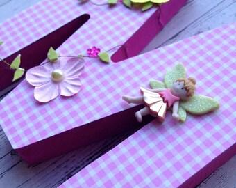 Initial name letter in papier mache 12 cm custom - themed fairies