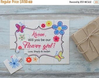LATE SHIP SALE Flower Girl Puzzle, Will You Be Our Flower Girl Personalized Proposal Puzzle, Flower Girl Proposal, Asking Flower Girl, Flowe