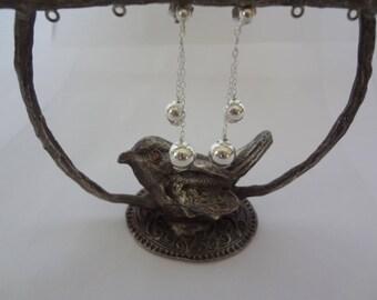 Earrings charm beads 925 sterling silver