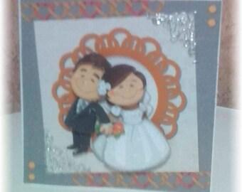 romantic wedding card a young couple