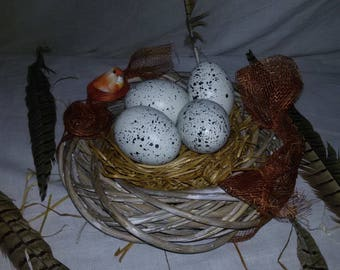 nature table decoration Easter