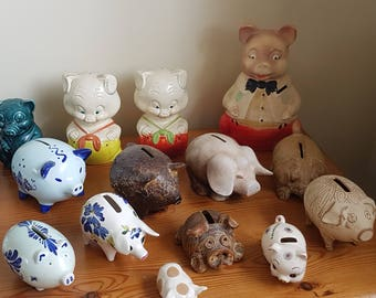 Ceramic piggy bank collectables