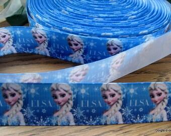 Ribbon grosgrain Blue Queen ice
