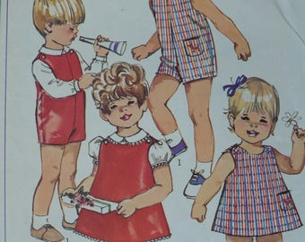 Children's, Toddler's Dress, Jumper, Blouse Pattern, Vintage Simplicity 7881, Size 4 - CoPA Pattern circa 1960