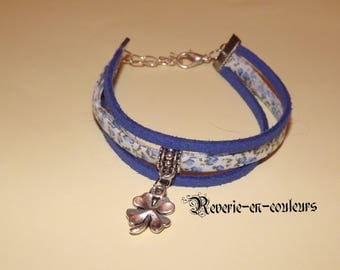 liberty blue bracelet with clover four leaves