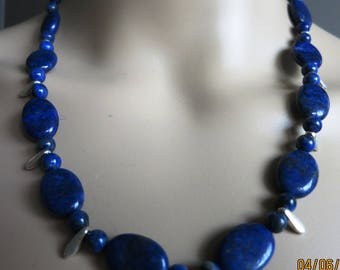 ÉLYE Parure necklace and earrings blue gemstones and 925 sterling silver Teardrops