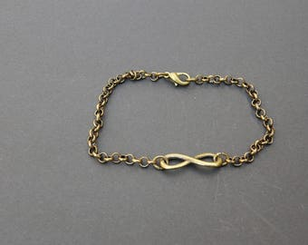 Infinity bracelet chains bronze