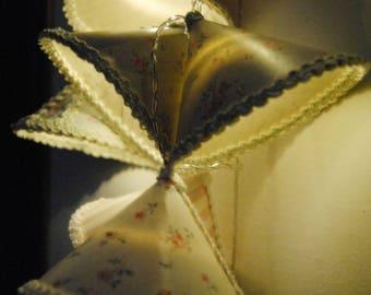 Light string in delicate pastel tones