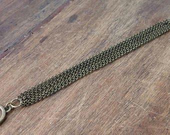 Multi strand bracelet bronze