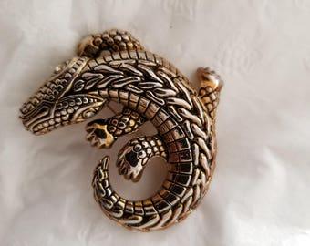 Vintage Alligator/Crocodile Brooch Pin