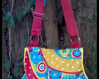 floral flat bag