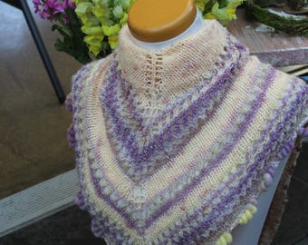 Art yarn meets traditional Shawlette NZ merino & silk