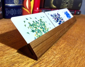 Wooden Business Card Holder and Display