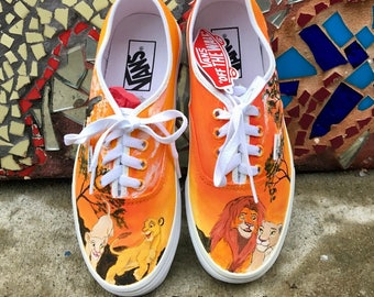 Hand Painted Lion Shoes