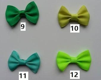 Numéro 10 noeud ruban grosgrain vert    35*23mm