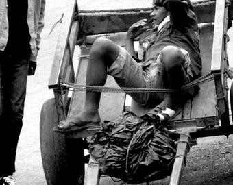 "Photography black and white: ""End of the break"" - Antananarivo, MADAGASCAR - 2015"
