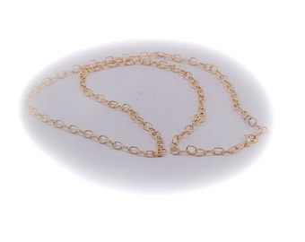 Vintage yellow gold textured link chain, circa 1980