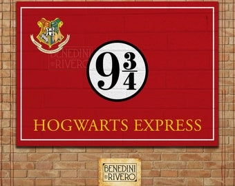 Platform 9 3/4 Printable Sign | Harry Potter Party | Poster | INSTANT DOWNLOAD - Hogwarts Express | Hogwarts Train