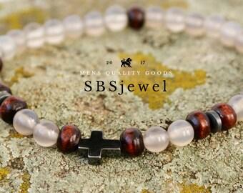 Sideways Cross CROSS BRACELET Mens Cross Bracelet Bracelet Religious Bracelets Crucifix Bracelet Cross Jewelry Christian Bracelet Mens Cross