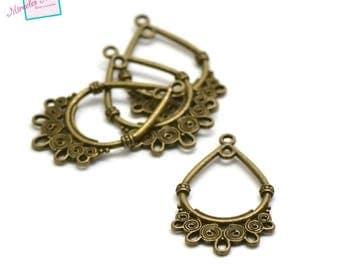 10 chandelier 38 x 24 mm bronze b002