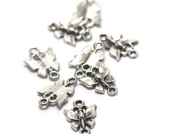 """10 connectors charms """"Dragonfly"""" 19 x 12 mm"""