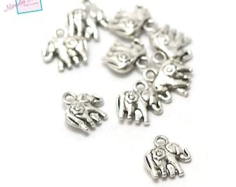 "20 charms ""elephant"" 12 x 11 x 3 mm, 098 silver"