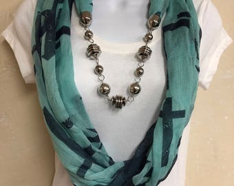 Light Weight Turquoise Infinity Scarf