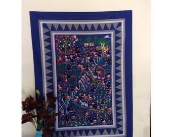 Hmong Hill Tribe story handmade cloth
