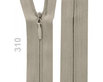 22 cm light grey invisible zipper