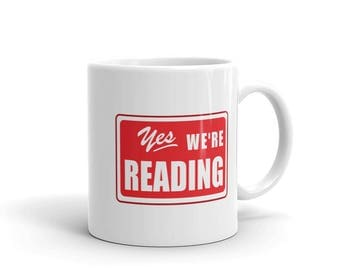 Reading Coffee Mug Read Across America Read Across the USA reading literacy school teachers students principals teacher gift librarians