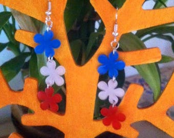 Flower colors of the France earring