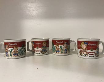 Set of 4 Vintage Campbell's Soup Mugs by Westwood