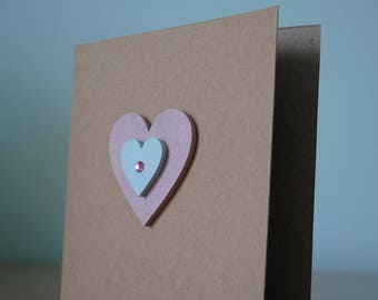 Handmade heart card