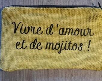Kit in humorous or personalized yellow burlap
