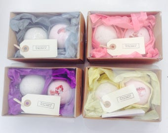 Made to order bath bomb gift boxes