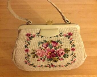 Vintage Needlepoint Martha Klein Handbag