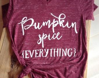 PUMPKIN SPICE SHIRT, Pumpkin spice tshirt, Fall Shirt, Thanksgiving shirt, Fall Tees, Thankful Shirt, Womens Fall Shirt, Pumpkin spice, Fall