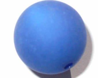 2 Navy Blue polaris 20mm beads