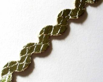20 cm Serpentine Gold 7mm - 20cm ACFI311 gold snakeskin