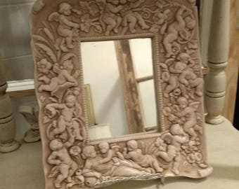 Carved Angel Mirror