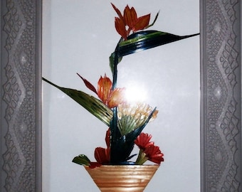 straw flower arrangement
