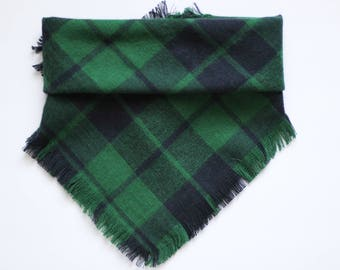 Green Forest Plaid / Fringed or Regular