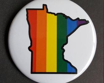 Rainbow Minnesota Button